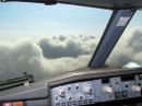 Boeing 737 cloud skimming (flying through clouds)