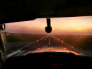Airport runway landing