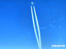 Plane contrails