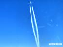Plane contrails